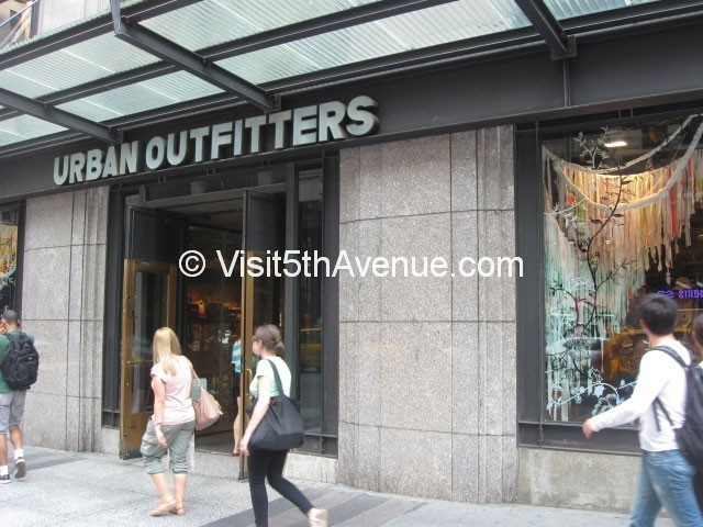 Urban Outfitters 5th Avenue New York Clothing Store